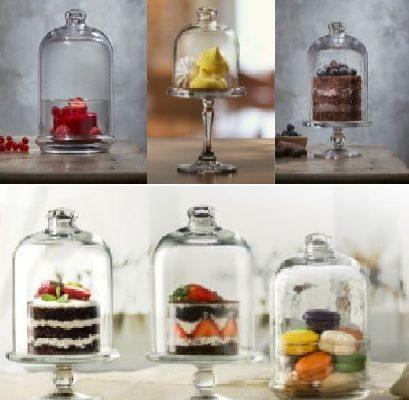 Nuove coppette e alzate in vetro per buffet e servizio