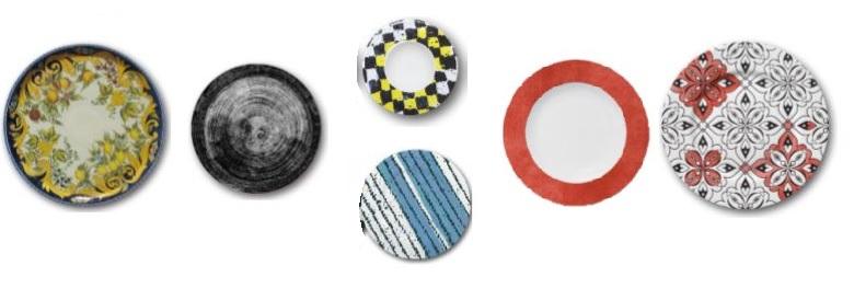 Nuove linee di piatti colorati by Saturnia